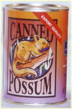 canned possum toy