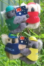 Clip-on koalas in hats & vests