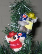 Christmas tree decoration - Clip-on koalas