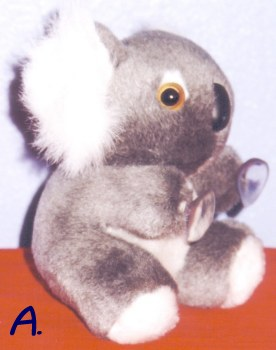 Koala toys with suction on hands