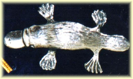 enlarged pewter figurine of platypus