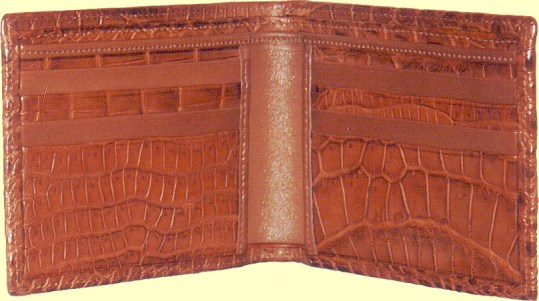 crocodile leather wallet inside features