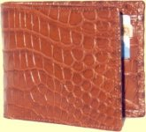 Crocodile wallet in tan matt