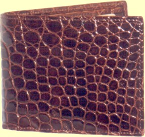 top of the range crocodile leather wallet for men in oxblood glazed