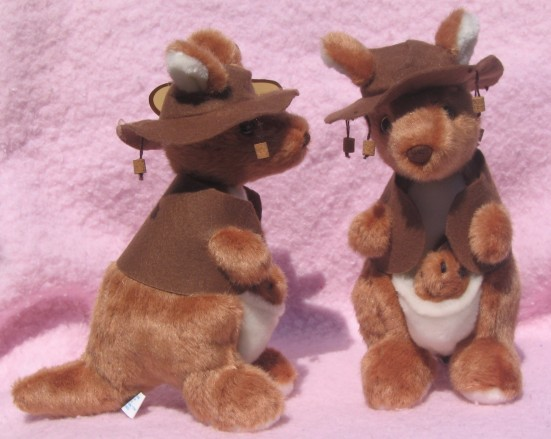 Kangaroo soft toys with Waltzing Matilda musical feature