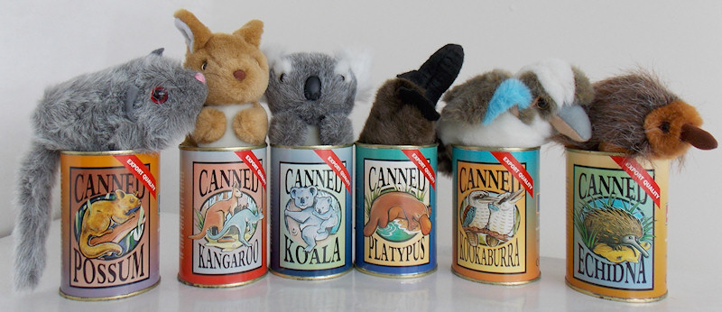 More canned animals from Australia